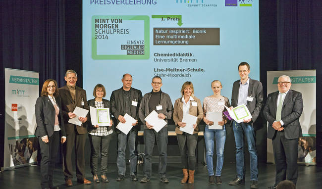 MINT-Preisverleihung 2014 Foto: Joachim-Herz-Stiftung/Rolf Schulten