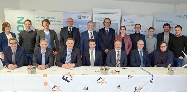 Erfolgreiches Team: Stifter unterstützen die Arbeit des Wind Energy Technology Institute (WETI) an der Fachhochschule Flensburg für weitere fünf Jahre. Foto: FH Flensburg/Gatermann