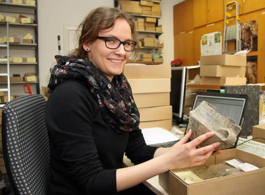 Nadine Schwarck studiert Archäologie an der Christian-Albrechts-Universität in Kiel. Foto: Henze
