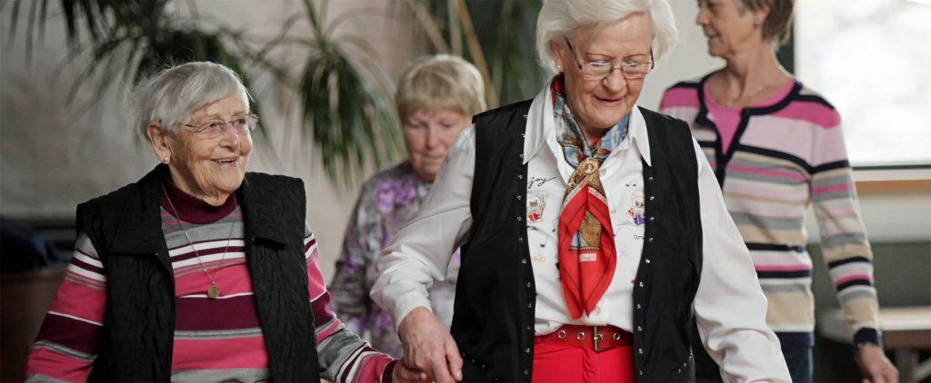 Unterstützung und Hilfe für ältere Menschen.